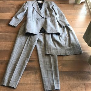 Christian Dior 3 pieces blazer skirt pants suit 4
